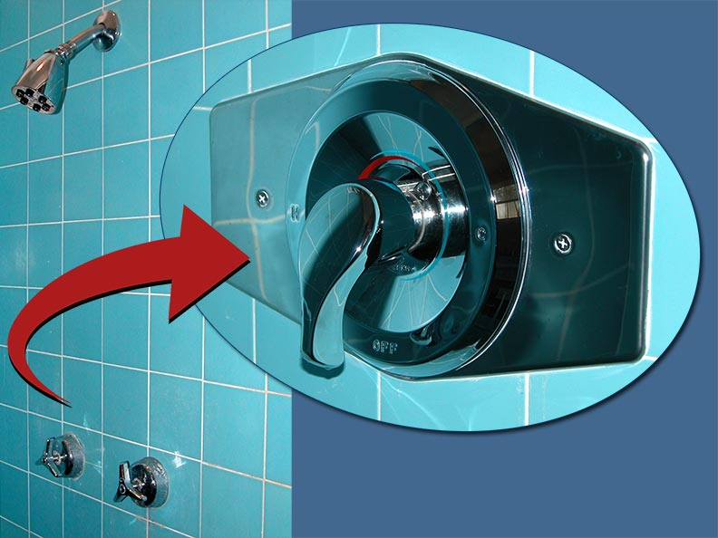 Convert a Two or Three Handle Tub Shower Valve to Single Handle With ...